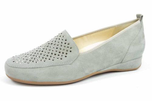 Damen HASSIA Klassische Slipper beige PETRA 40