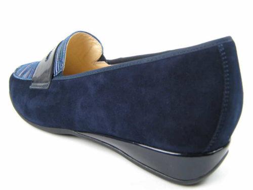 Damen HASSIA Klassische Slipper blau PETRA 39