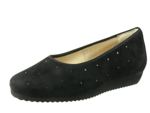 Damen HASSIA Komfort Slipper schwarz Sanremo 36
