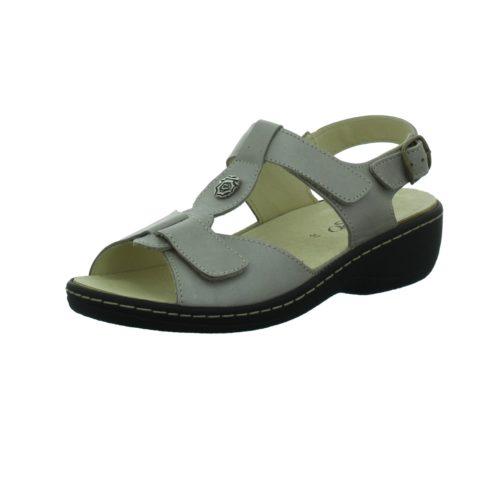 Damen HASSIAS Komfort Sandalen beige Bequem-Pantolette,taupe 41