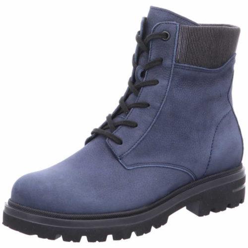 Damen Hartjes Schnür-Stiefeletten blau Hike Boot 41