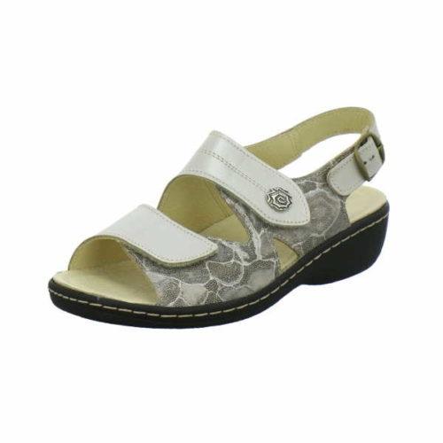 Damen Longo Komfort Sandalen beige Bequem-Pantoletten,nuss/taupe 37