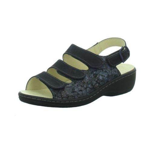 Damen Longo Komfort Sandalen schwarz Bequem-Pantolette,schwarz/nav... 40