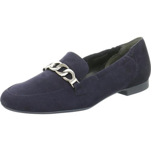 Damen Paul Green Klassische Slipper blau blau Samtziege 42,5