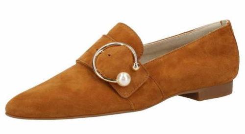 Damen Paul Green Klassische Slipper braun caramel 40,5