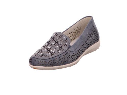 Damen Remonte Komfort Slipper blau 37