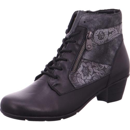 Damen Remonte Schnür-Stiefeletten schwarz schwarz/asphalt/graphit ... 38