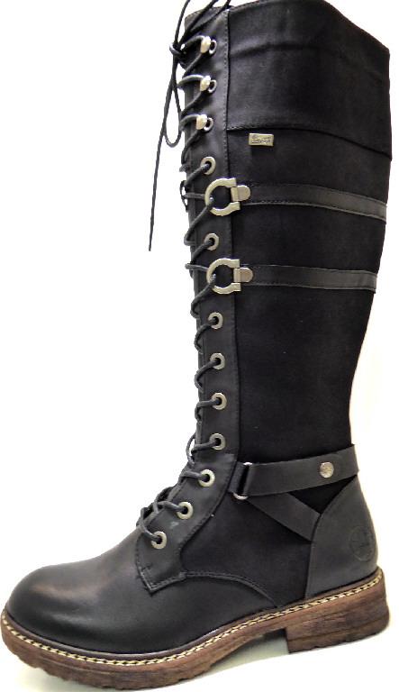 Damen Rieker Stiefel schwarz 41