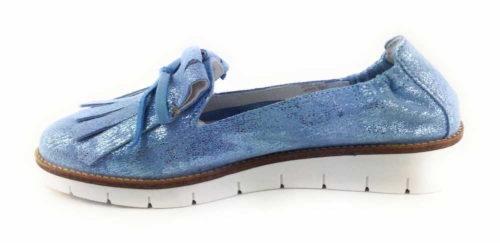 Damen SPM Sportliche Slipper blau NV 38