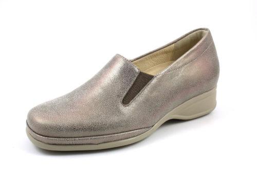 Damen Semler Komfort Slipper beige METALL-NAPPA 38