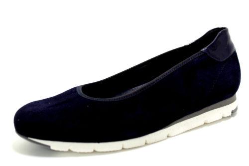 Damen Semler Komfort Slipper blau 40
