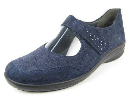 Damen Semler Komfort Slipper blau Birgitt 38