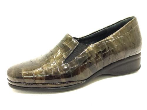 Damen Semler Komfort Slipper grau 40