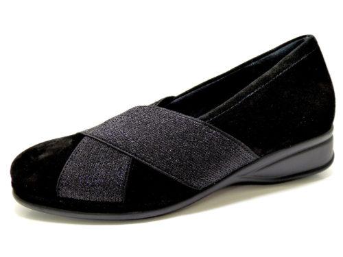 Damen Semler Komfort Slipper schwarz 36