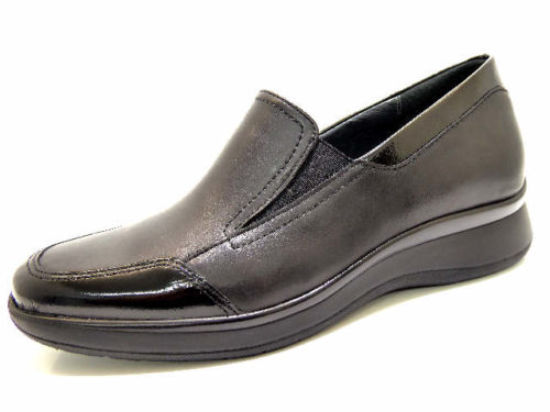 Damen Semler Komfort Slipper schwarz Regina 38,5