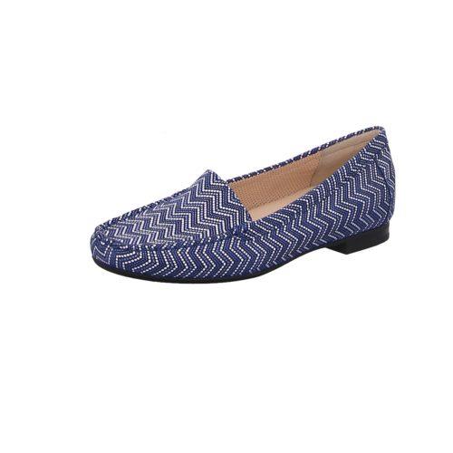 Damen Sioux Klassische Slipper blau 38
