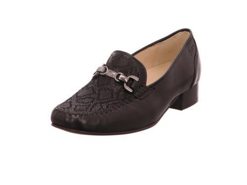 Damen Sioux Komfort Slipper schwarz Aiglina-700 40,5