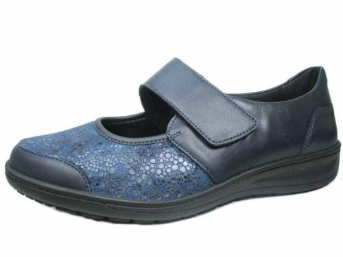 Damen Solidus Komfort Slipper blau Kate 41
