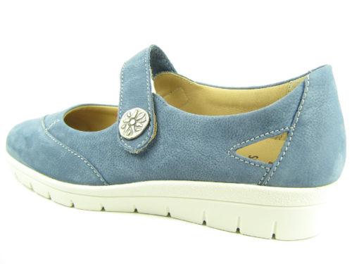 Damen Solidus Komfort Slipper blau Kyra 38