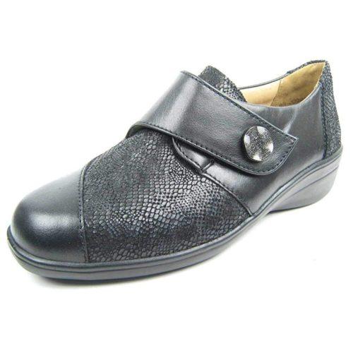 Damen Solidus Komfort Slipper schwarz Karo 38