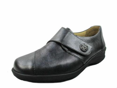 Damen Solidus Komfort Slipper schwarz Karo 38,5