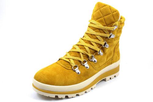 Damen Tamaris Schnür-Stiefeletten gelb Woms Boots 40