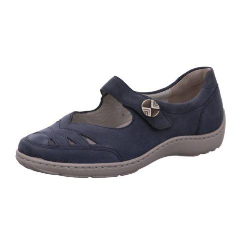 Damen Waldläufer Komfort Slipper blau 37