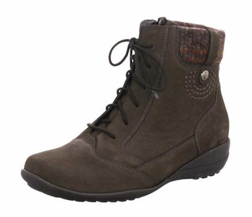 Damen Waldläufer Schnür-Stiefeletten grau 601805 37