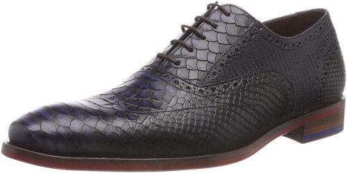 Herren Floris van Bommel Business Schuhe blau Schnürschuhe elegant 44,5