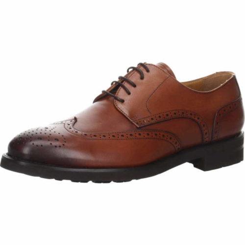 Herren K&K Business Schuhe braun Old England Schnürschuh 43