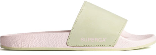 Superga Damen-Slipper 1908 Buttersoft Pool Sliders Green grün/rosa/pink (S11147W-A0K)
