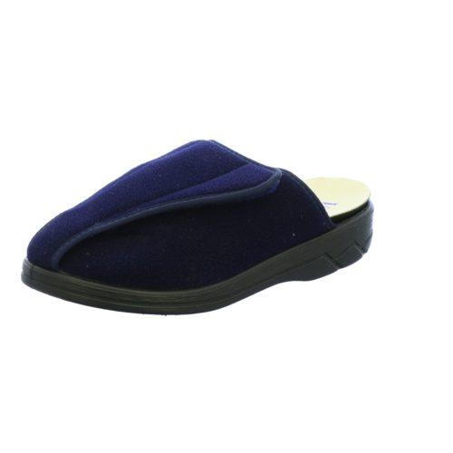 Unisex Florett Hausschuhe blau Bali marine PA-Velour 38