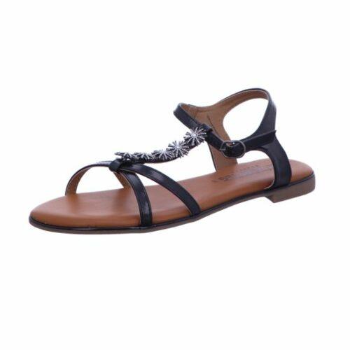 Damen Laufsteg Komfort Sandalen schwarz Sandaletten, glatter B. bi... 36