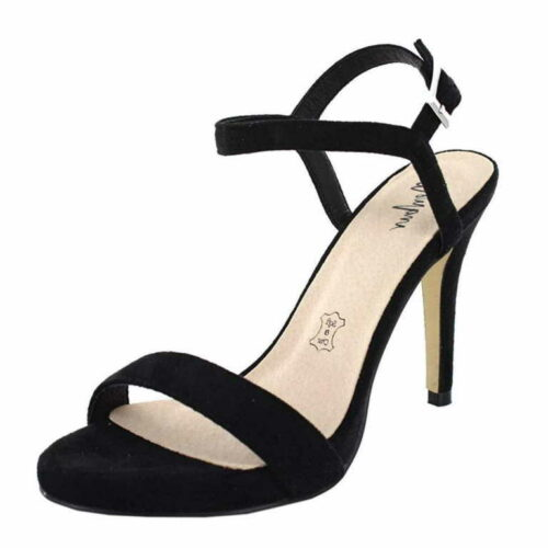 Damen Menbur Riemchen Sandalen schwarz Sandalette 36