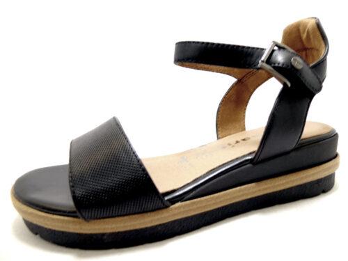 Damen Tamaris Komfort Sandalen schwarz Da.-Sandalette 37