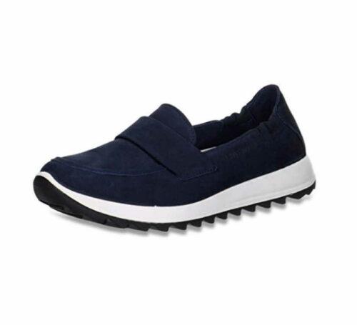 Damen legero Sportliche Slipper blau 36