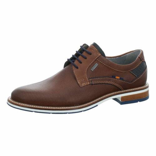 Herren Fretz Men Business Schuhe braun Schnürschuh perforiert 46