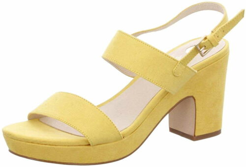 Herren La Strada Riemchen Sandalen gelb Sandaletten 41