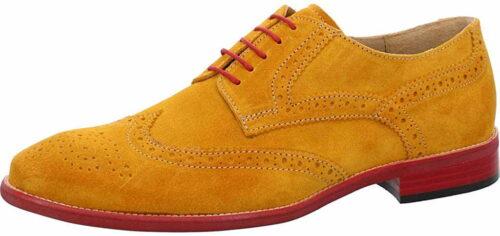 Herren Nicola Benson Business Schuhe gelb Schnürschuh 42