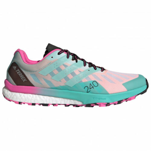 adidas - Terrex Speed Ultra - Trailrunningschuhe Gr 7,5 grau/türkis/rosa