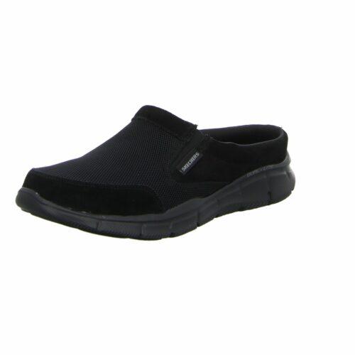 Herren Skechers Pantoletten schwarz Equalizer 42