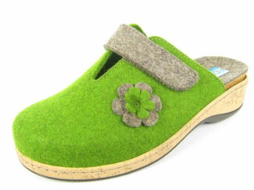 Fidelio Hausschuhe grün Clog 40