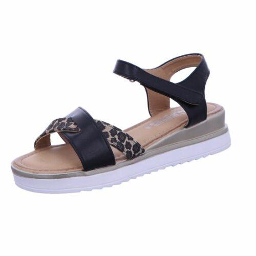 Laufsteg Komfort Sandalen schwarz Sandaletten, glatter B. bi... 37