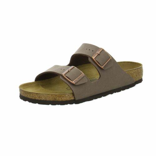 Herren Birkenstock Pantoletten braun Arizona Fußbett 2 Schnallen 48