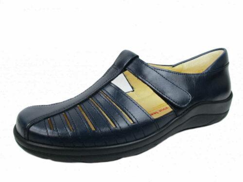 Damen Christian Dietz Komfort Slipper blau Ravenna 38