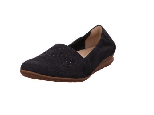 Damen Gabor Komfort Slipper blau NV 40,5