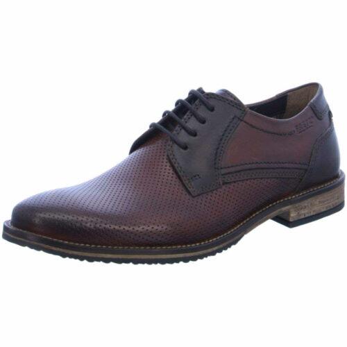 Herren Fretz Men Business Schuhe braun Schnürschuh perforiert 48