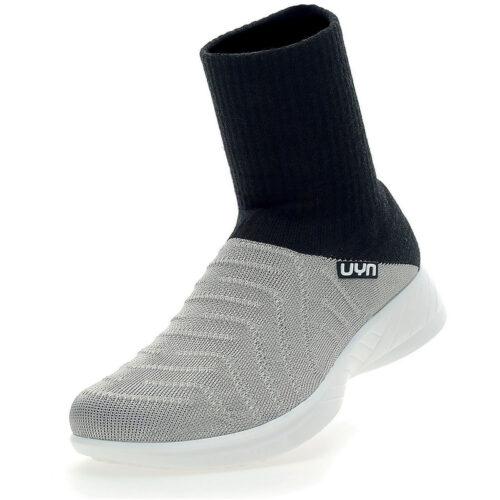 UYN 3D Ribs Stiefel Metal Damen silver/black 38